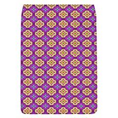 Purple Decorative Quatrefoil Removable Flap Cover (small)
