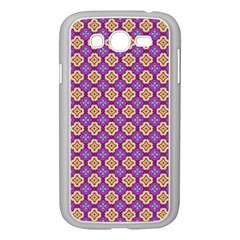 Purple Decorative Quatrefoil Samsung Galaxy Grand Duos I9082 Case (white)