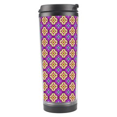Purple Decorative Quatrefoil Travel Tumbler