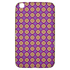Purple Decorative Quatrefoil Samsung Galaxy Tab 3 (8 ) T3100 Hardshell Case