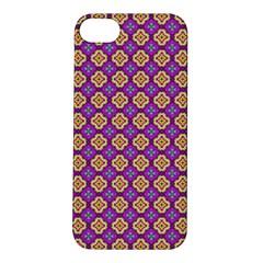Purple Decorative Quatrefoil Apple Iphone 5s Hardshell Case