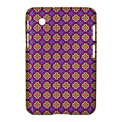 Purple Decorative Quatrefoil Samsung Galaxy Tab 2 (7 ) P3100 Hardshell Case