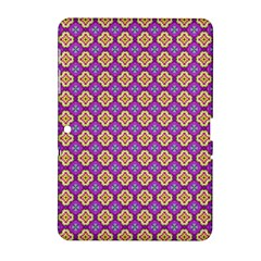 Purple Decorative Quatrefoil Samsung Galaxy Tab 2 (10 1 ) P5100 Hardshell Case