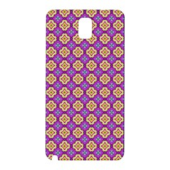Purple Decorative Quatrefoil Samsung Galaxy Note 3 N9005 Hardshell Back Case
