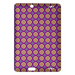 Purple Decorative Quatrefoil Kindle Fire HD (2013) Hardshell Case