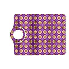 Purple Decorative Quatrefoil Kindle Fire HD (2013) Flip 360 Case