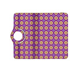 Purple Decorative Quatrefoil Kindle Fire HDX 8.9  Flip 360 Case