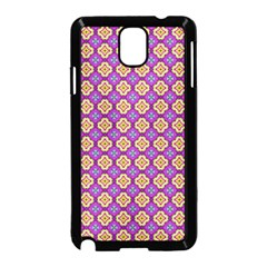 Purple Decorative Quatrefoil Samsung Galaxy Note 3 Neo Hardshell Case (black)