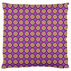 Purple Decorative Quatrefoil Standard Flano Cushion Case (Two Sides)