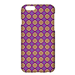 Purple Decorative Quatrefoil Apple iPhone 6 Plus Hardshell Case