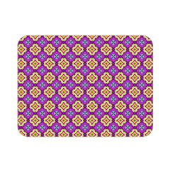 Purple Decorative Quatrefoil Double Sided Flano Blanket (Mini)