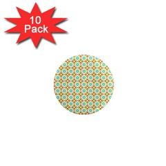 Aqua Mint Pattern 1  Mini Button Magnet (10 Pack)