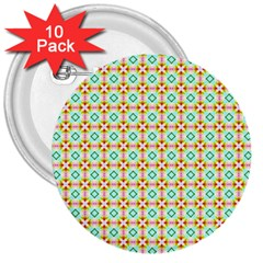 Aqua Mint Pattern 3  Button (10 Pack)