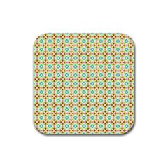 Aqua Mint Pattern Drink Coaster (square)