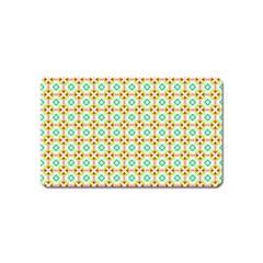 Aqua Mint Pattern Magnet (name Card)