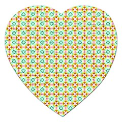 Aqua Mint Pattern Jigsaw Puzzle (heart)