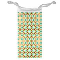 Aqua Mint Pattern Jewelry Bag