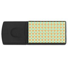 Aqua Mint Pattern 4gb Usb Flash Drive (rectangle)