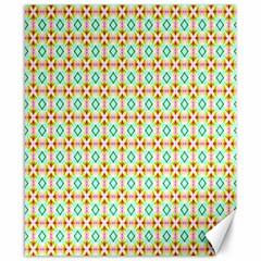 Aqua Mint Pattern Canvas 8  X 10  (unframed)