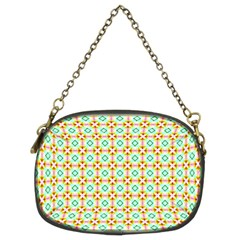 Aqua Mint Pattern Chain Purse (two Sided)