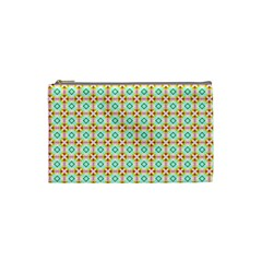 Aqua Mint Pattern Cosmetic Bag (small)