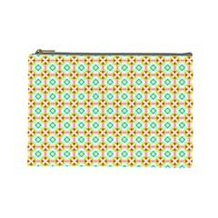 Aqua Mint Pattern Cosmetic Bag (large)
