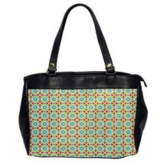 Aqua Mint Pattern Oversize Office Handbag (one Side)