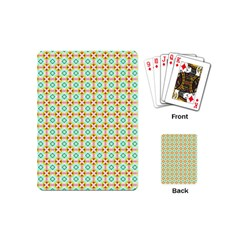 Aqua Mint Pattern Playing Cards (mini)
