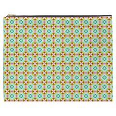 Aqua Mint Pattern Cosmetic Bag (xxxl)