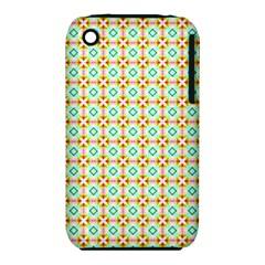 Aqua Mint Pattern Apple iPhone 3G/3GS Hardshell Case (PC+Silicone)