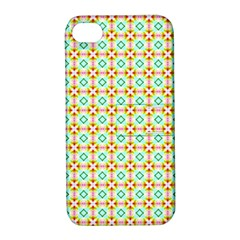 Aqua Mint Pattern Apple Iphone 4/4s Hardshell Case With Stand
