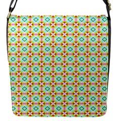 Aqua Mint Pattern Flap Closure Messenger Bag (small)