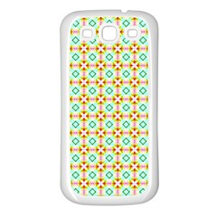 Aqua Mint Pattern Samsung Galaxy S3 Back Case (white)