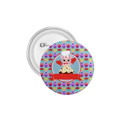 Cupcake With Cute Pig Chef 1 75  Button