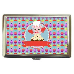 Cupcake With Cute Pig Chef Cigarette Money Case