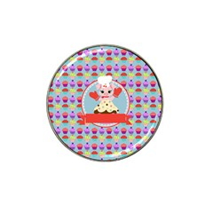 Cupcake With Cute Pig Chef Golf Ball Marker 10 Pack (for Hat Clip)