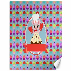 Cupcake With Cute Pig Chef Canvas 36  X 48  (unframed)