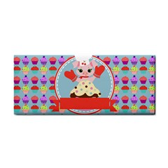 Cupcake With Cute Pig Chef Hand Towel