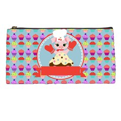 Cupcake With Cute Pig Chef Pencil Case