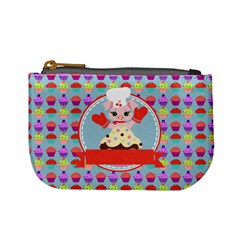 Cupcake With Cute Pig Chef Coin Change Purse
