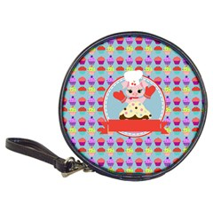 Cupcake With Cute Pig Chef Cd Wallet