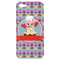 Cupcake With Cute Pig Chef Apple Iphone 5 Hardshell Case