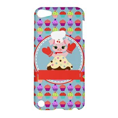 Cupcake With Cute Pig Chef Apple Ipod Touch 5 Hardshell Case