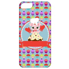 Cupcake With Cute Pig Chef Apple Iphone 5 Classic Hardshell Case