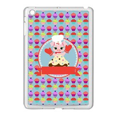 Cupcake With Cute Pig Chef Apple Ipad Mini Case (white)