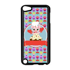 Cupcake With Cute Pig Chef Apple Ipod Touch 5 Case (black)