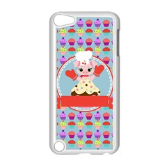 Cupcake With Cute Pig Chef Apple Ipod Touch 5 Case (white)