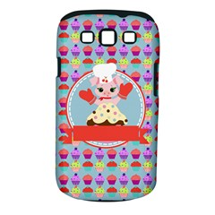Cupcake With Cute Pig Chef Samsung Galaxy S Iii Classic Hardshell Case (pc+silicone)