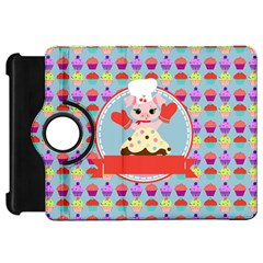 Cupcake With Cute Pig Chef Kindle Fire Hd Flip 360 Case