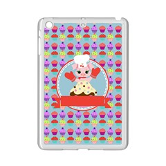 Cupcake With Cute Pig Chef Apple Ipad Mini 2 Case (white)